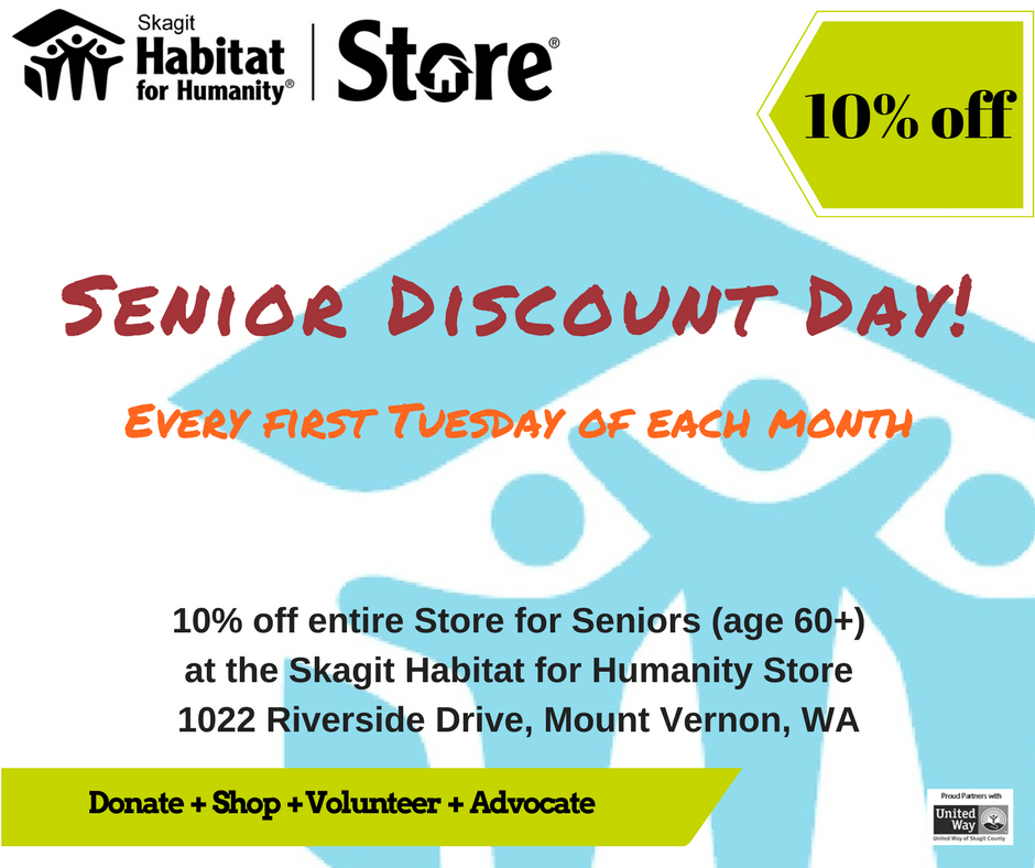 10% Senior Discount 1st Tues ea month