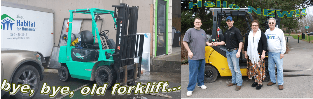 Forklift before & after...